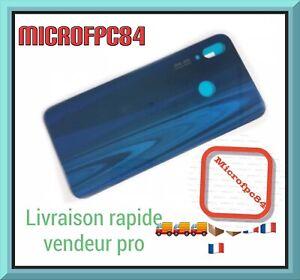CACHE VITRE ARRIERE/CAPOT BATTERIE HUAWEI P20 LITE Bleu + Logo Pas De Lentille