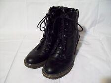 White Mountain Women's Frontier Black Boots Lace Up Zipper Size 7.5M