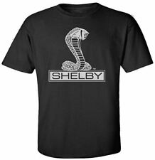 Shelby Cobra Snake T-Shirt * Silver on Black * Ships Worldwide & FREE to USA!