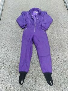 Vtg One Piece SKI SUIT Snow Snowsuit purple Women's Size: L