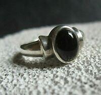 vintage ring mit schwarzem onyx silber 925 3,5 g 17 mm
