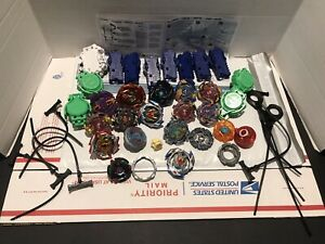BeyBlade lot Metal Fusion Turbo Blast 13 complete 12 launchers 9 rippers hasbro