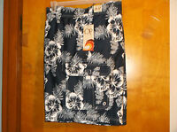 "NEW MEN'S ""OP"" NAVY w/ FLORAL SWIMMING TRUNKS w/ ELASTIC WAIST & DRAW STRING"
