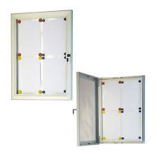 Bacheca magnetica esterno avvisi comunicazioni manifesti serratura 12 fogli A4