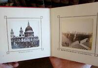 London c.1870-80 Photographic tourist souvenir album old book nice city views