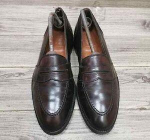 Alden 684  Cordovan Shell #8  Full Strap Penny Loafer Size 9.5 BD Men Shoes