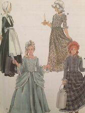 Simplicity Pattern 5042 Kids Halloween Costume  S M L  Puritan Centenial 19th