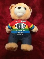 "NASCAR Dupont Goodyear Pepsi Teddy Bear Plush Stuffed Animal 8"" Collectors"