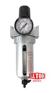 "3/8"" Mid Flow Air Compressor Regulator & Filter Combo w/ Gauge /Manual Drain"