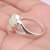 Handmade 925 Solid Sterling Silver Jewelry Ethiopian Opal Gemstone Ring Size 8