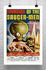 Invasion Of The Saucer Men Vintage Sci-Fi Movie Poster Canvas Giclee 24x36 in.