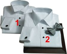 White Tuxedo Shirt Evening Dinner wedding Custom Made to Measure hand tailored