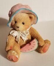 """Teddy Bear Figurine - Julie P. Hillman appx. 2.5""""T x 2.5""""W x 2""""L #914819 Vg"""
