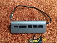 Satechi Type-C Aluminium USB Hub & Card Reader space grey