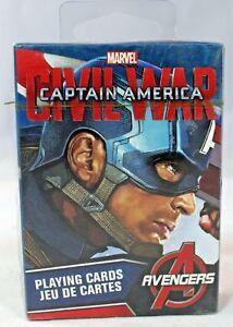 Aquarius - Captain America - Civil War (Marvel Avengers)  Playing Cards (New)