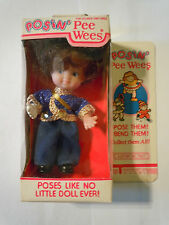 1984 Uneeda Posin Pee Wee Doll With Michael Jackson Style Outfit & White Glove