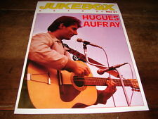 HUGUES AUFRAY - MINI POSTER JUKEBOX !!!!!!!!!!!!!!!