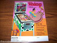 FANDANGO By PLAYMATIC 1976 ORIGINAL PINBALL MACHINE SALES FLYER BROCHURE