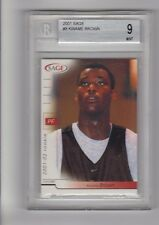 2001 Sage KWAME BROWN #8 BGS 9 Mint Glynn Academy H.S. BGS Pop 1/1
