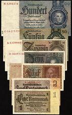 El tercer reich billetes frase 1933-45 usado (3) vf
