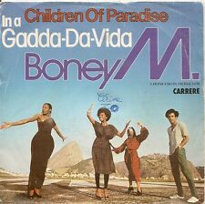 "45 TOURS / 7"" SINGLE--BONEY M--CHILDREN OF PARADISE / IN A GADDA DA VIDA--1980"