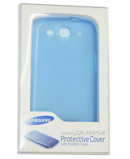 GENUINE SAMSUNG EFC-1G6WBECSTD GALAXY S3 I9300 PROTECTIVE TPU BLUE COVER CASE