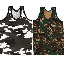 MILITARY CAMO VEST TOP T-SHIRT 100% COTTON MENS CLOTHING DPM FISHING HIKING ARMY