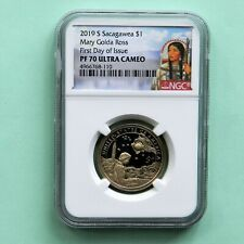 2019-S, Sacagawea $1 Mary Golda Ross, FIRST DAY OF ISSUE, NGC PF 70 Ultra Cameo