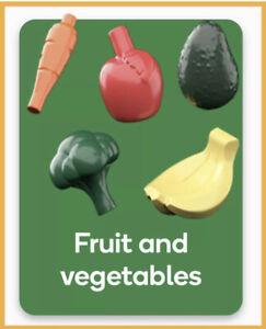 NEW Woolworths BRICKS #37 Fruit Vegetables Carrot Bananas Avocado Broccoli Apple