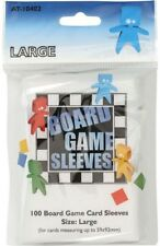 100 Board Games Sleeves Large 59x92mm European Variant Clear Kartenhülle AT10402
