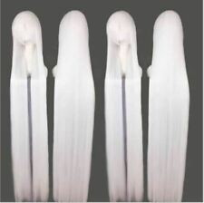 200cm Extra Long Straight White Game Anime Cosplay Wig Halloween