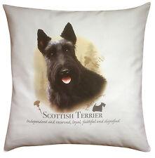 Scottish Terrier Dog   100% Cotton Cushion Cover & Zip   Howard Robinson   Gift