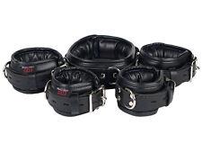 Bondage Manschetten Set Lederfesseln gepolstert schwarz Leder Fesseln Nr.904