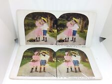 Stealing A Kiss Puppy Love Stereopticon Ingersoll Young Love Set Of 2