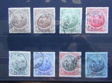 Barbados 1916 - 1919 values to 2s Purple on Blue Used