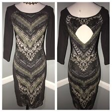new Free People multi color cut out cotton dress size XS