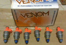 NEW Venom Fuel Injector Set for V6 - Bosch EV1 Style 30lb Flow Matched HP-630-6