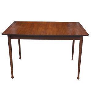 Mid-Century Modern Walnut Rectangle Kitchen Dining Table