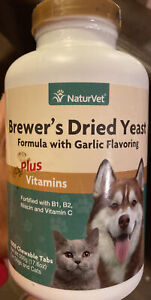 NaturVet Brewer's Yeast & Garlic Chewable Tablets, 1000 Chewable Tablets 05/21