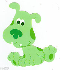 "3"" Blues clues nick jr green dog puppy prepasted wall border cut out character"