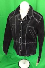 Wilsons Leather Womens Sz Large Maxima Black Leather Suede Jacket NWT
