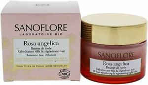 Sanoflore Rosa Angelica Baume Regenerating Night Balm Cream 50ml Deep Hydration