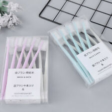 New 10Pcs Bamboo Pink Toothbrush  Soft Bristles For Adult Oral Care