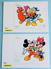 "Donald and Mickey Mouse Disney Postcards ""Valentines"" Poste Italiane 2020-NEW"