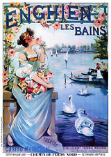 Affiche chemin de fer Nord - Enghien-les-Bains