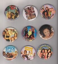 LOT OF 9 Spice Girls various rare photo picture vintage button PINS