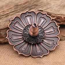 1Set Bronze 9 Hole Lotus Shape Incense Burner Holder Censer Plate For Stick Cone