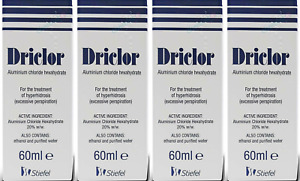 Driclor Under Arm Antiperspirant Roll On - 60ml X (PACK OF 4)
