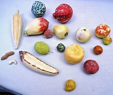 VINTAGE DECORATIVE FRUIT VEGETABLE LOT ARTIFICIAL RETRO REALISTIC COLLECTIBLES