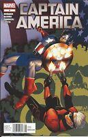 Captain America Comic 5 Cover A First Print 2012 Ed Brubaker Steve McNiven